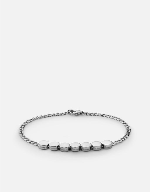 Type Chain Bracelet, Sterling Silver | Men's Bracelets | Miansai