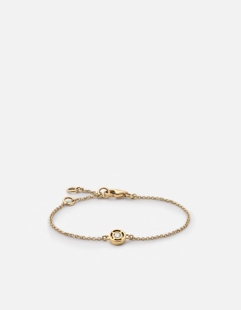 Mini Luna Bracelet/Diamond, 14k Gold | Mommy & Me | Miansai