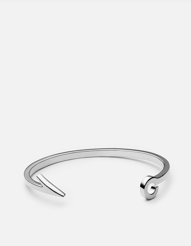 Miansai - Fish Hook Cuff, Sterling Silver