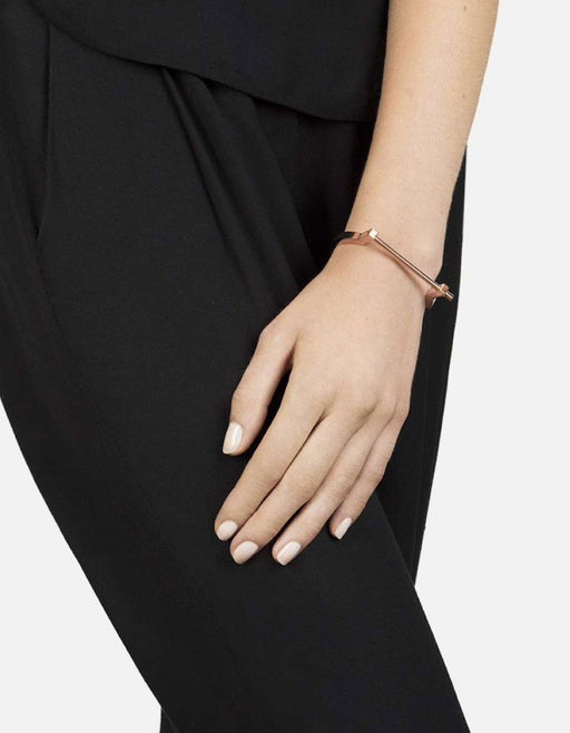 Modern Screw Cuff Bracelet, Rose Plated | Women's Cuffs | Miansai