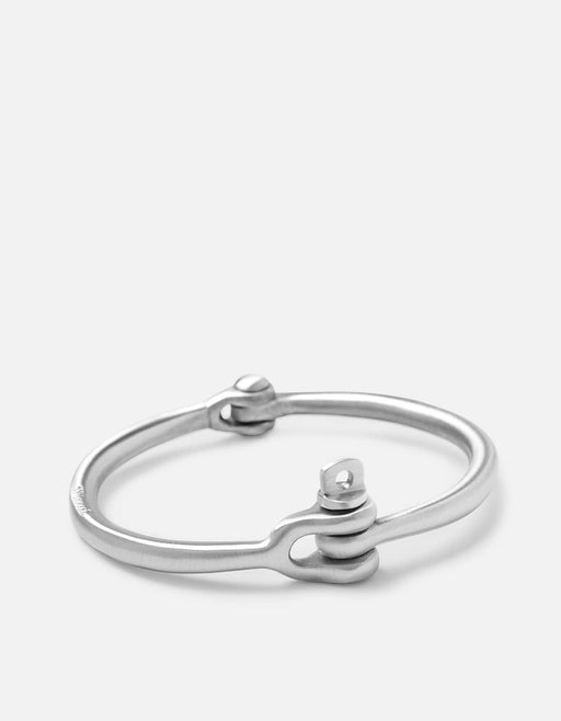 Reeve Cuff, Brushed Sterling Silver