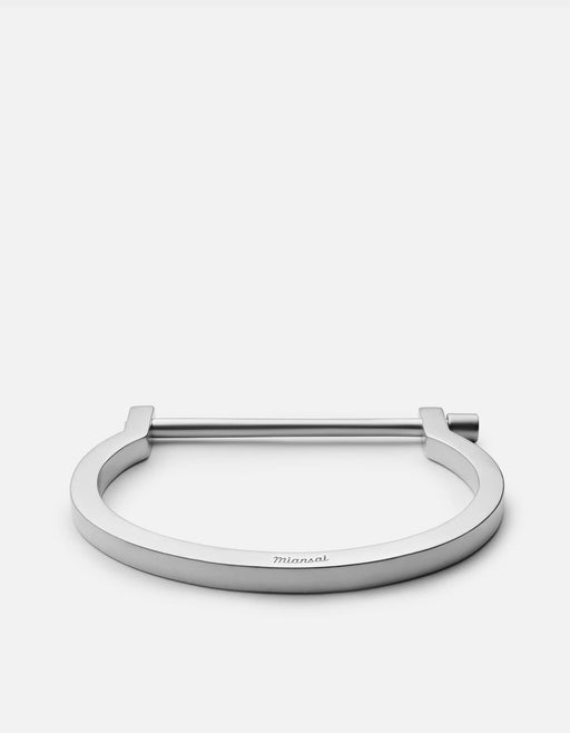 Miansai - Modern Screw Cuff, Matte Sterling Silver