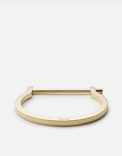 Modern Screw Cuff Bracelet, Matte Brass | Men's Cuffs | Miansai