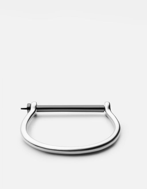 Miansai - Screw Cuff, Matte Sterling Silver w/ Noir Bar