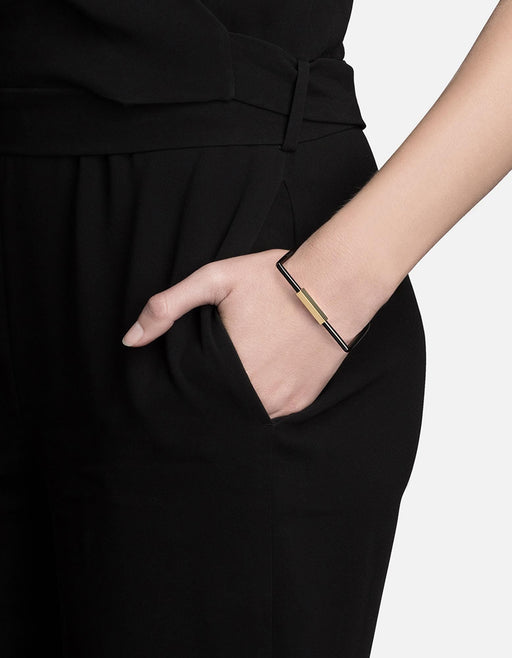 Bare Cuff, Jet Black w/Gold Plated Hex Nut | Women's Cuffs | Miansai