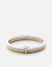 Tricolor Cuff Bracelet, Silver/Rose/Gold | Women's Cuffs | Miansai