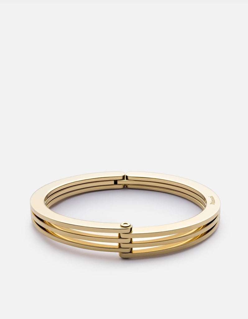 Offset Cuff Bracelet, Gold Plated, Polished | Women's Cuffs | Miansai