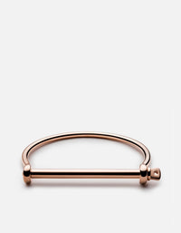 Thin Screw Cuff, Rose
