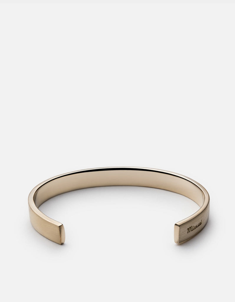 Label Cuff Bracelet, Matte Brass | Men's Cuffs | Miansai