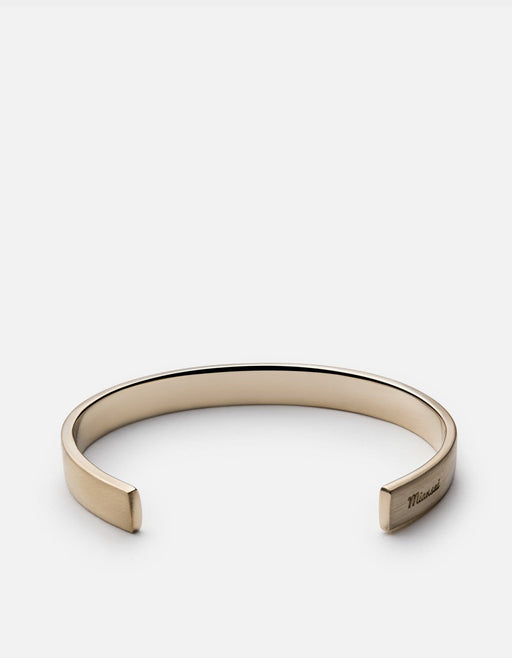 Miansai - Label Cuff, Matte Brass