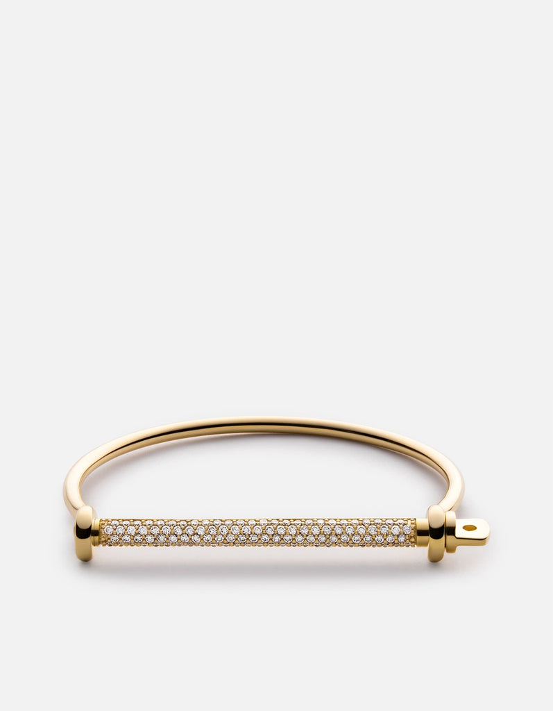 Thin Screw Cuff, Gold/Sapphire | Women's Cuffs | Miansai