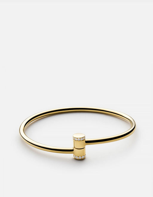 Pillar Cuff, 14k Yellow Gold w/Pave | Women's Cuffs | Miansai