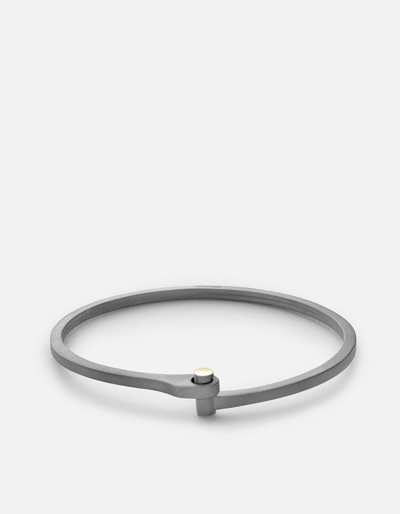 Miansai - Nyx Cuff, Matte Black Rhodium/Gold