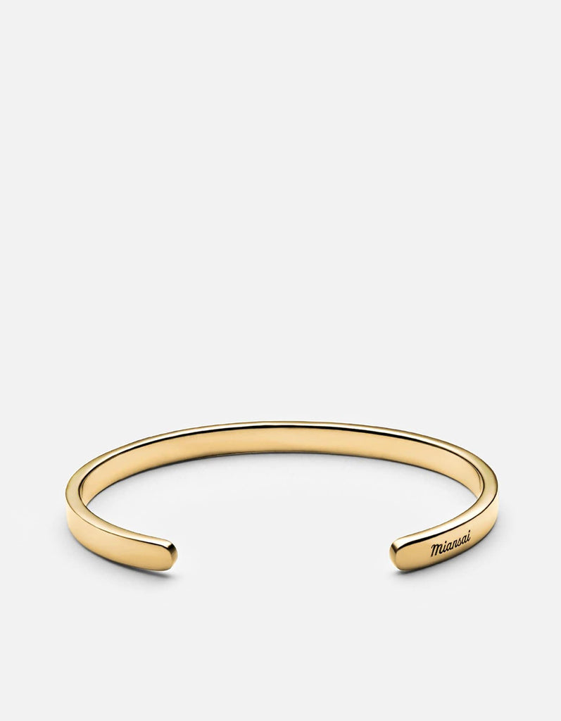 Singular Cuff, 14k Yellow Gold, Polished | Men's Cuffs | Miansai