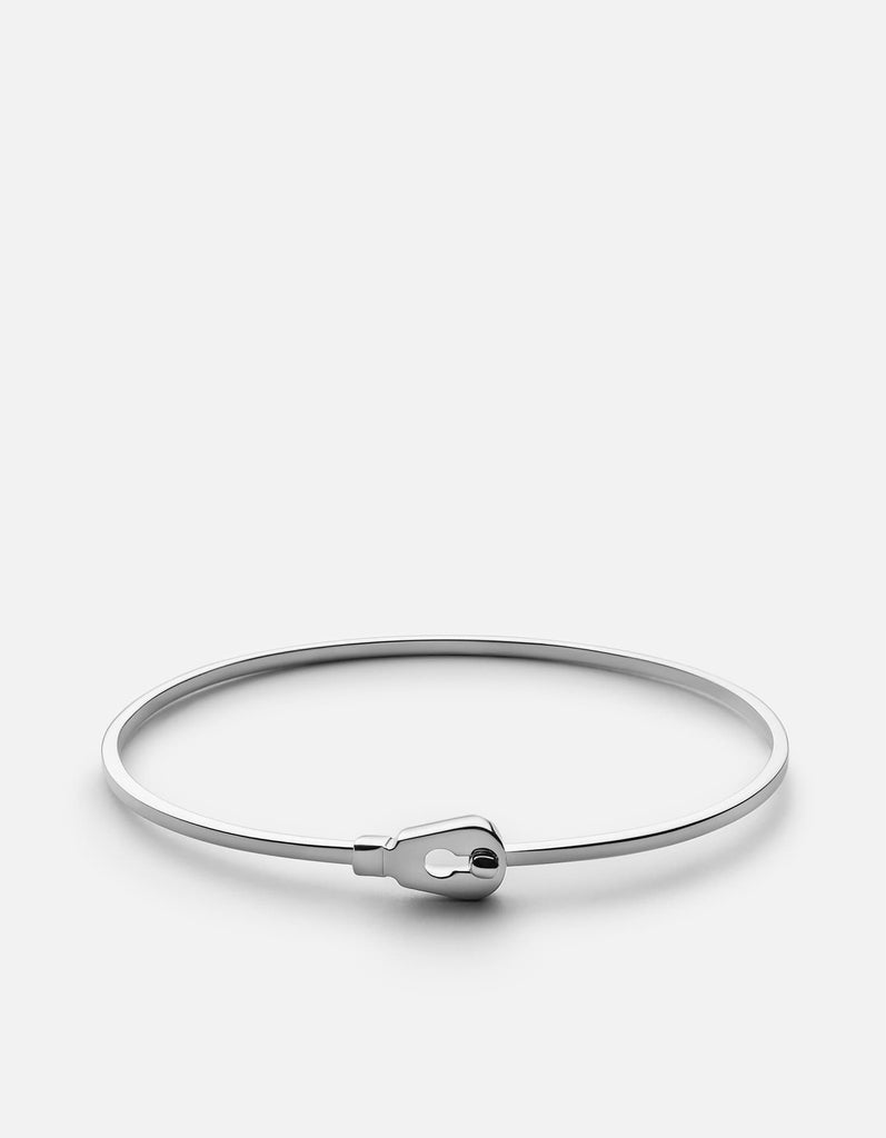 Thin Centra Cuff, Sterling Silver