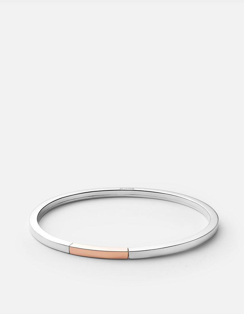 Panel Cuff, Silver/Rose, Polished | Women's Cuffs | Miansai