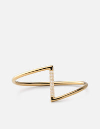 Arch Cuff, Gold Vermeil w/White Sapphires, Polished | Women's Cuffs | Miansai