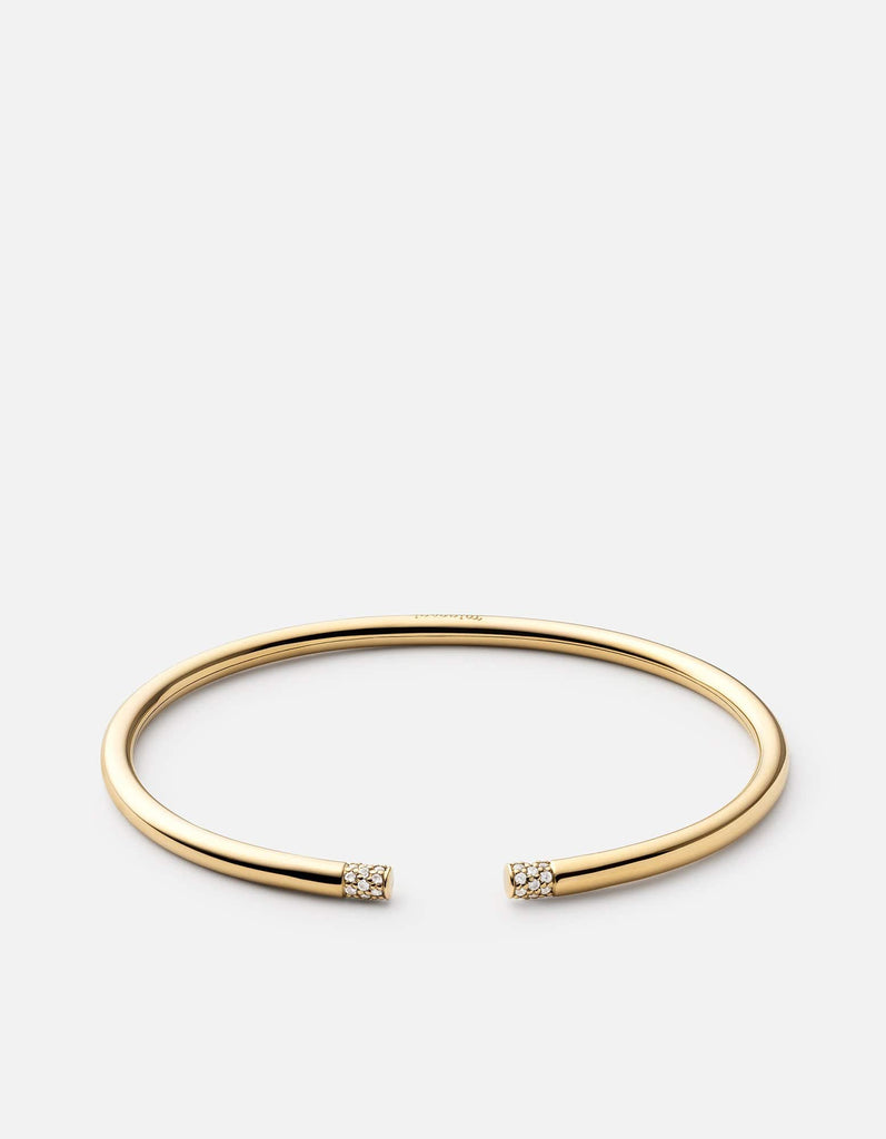 Ella Cuff, Gold Vermeil w/White Sapphires, Polished | Women's Cuffs | Miansai