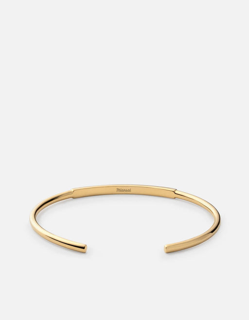 ID Cuff, Gold, Polished | Men's Cuffs | Miansai