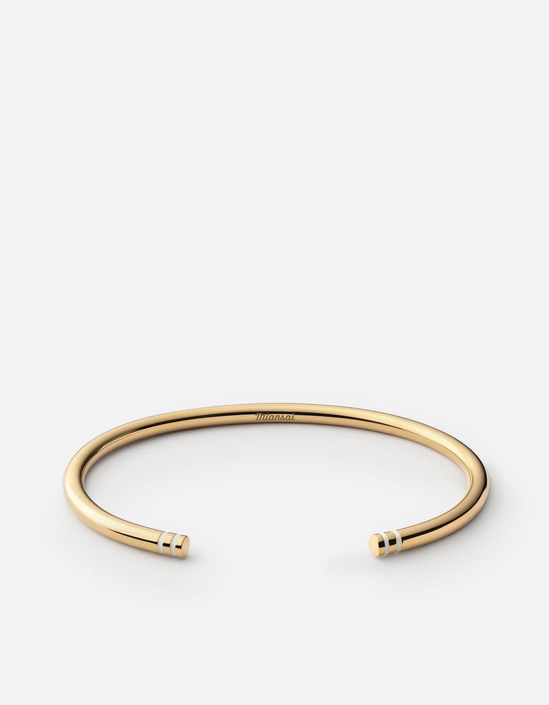 Miansai - Aire Cuff, Gold Vermeil/Off-White