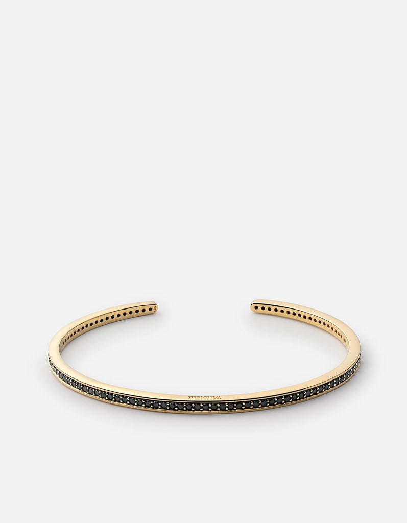 Miansai - Set Cuff, 14k Gold/Black Diamonds