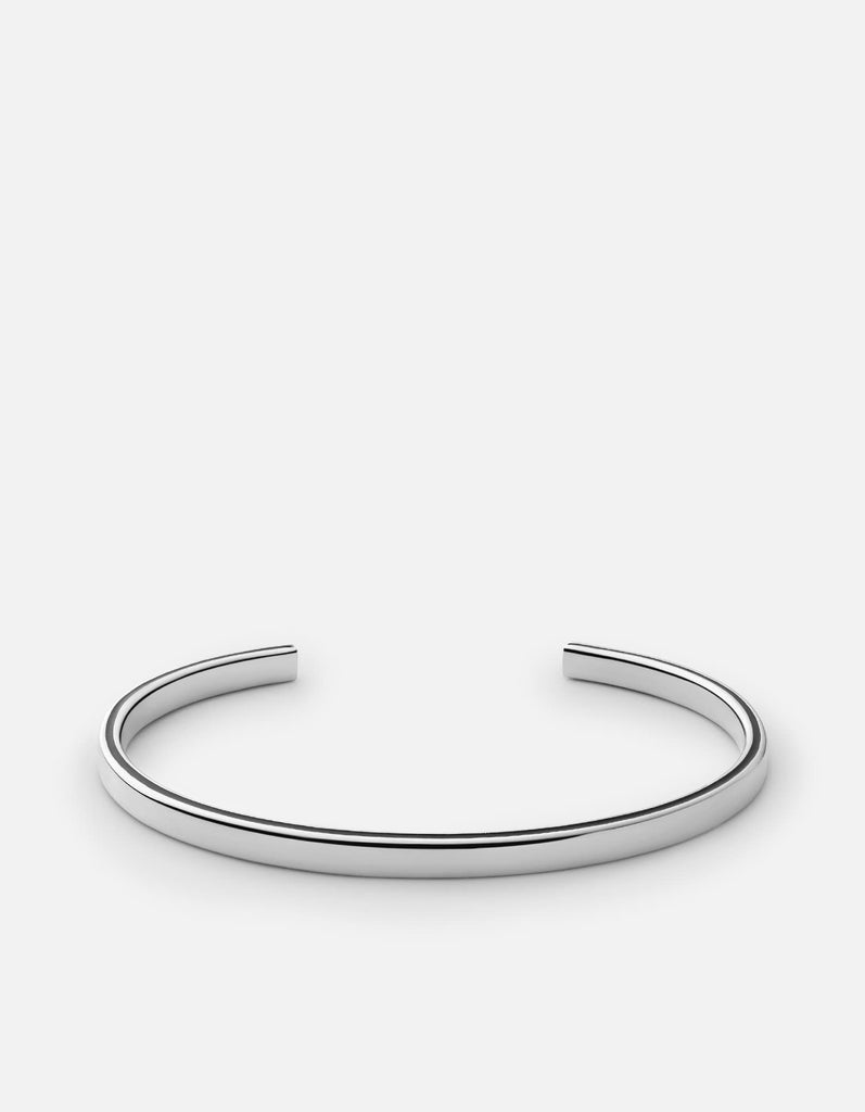Ridge Cuff,  Sterling Silver, Polished Silver - Miansai