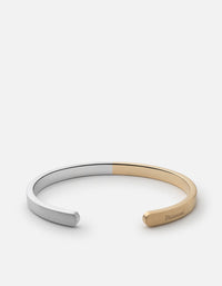 Singular Two-Tone Cuff, Sterling Silver, Gold Vermeil | Men's Cuffs | Miansai