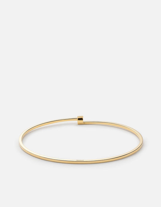 Thin Cubist Cuff, 14k Gold - Miansai