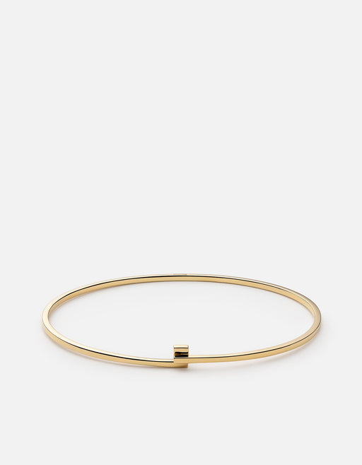 Made in 14k yellow gold, the men's Thin Cubist Cuff is crafted with the utmost precise attention to timeless sophistication.