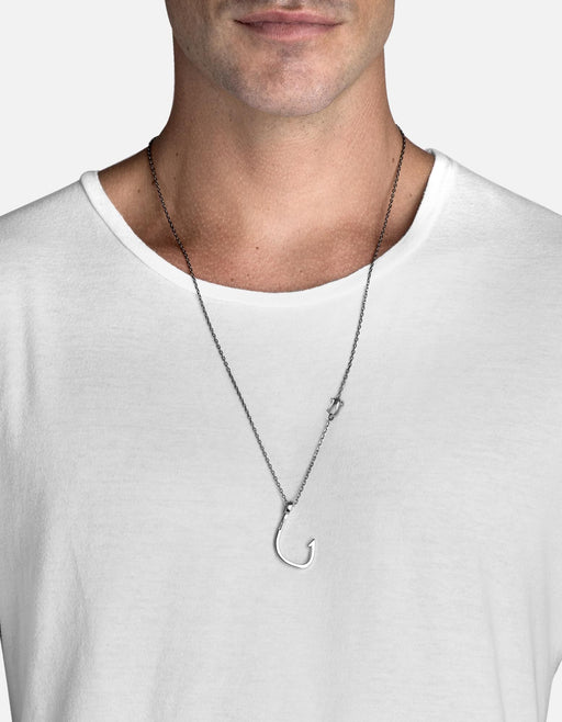 Hooked Necklace, Silver Plated | Men's Necklaces | Miansai