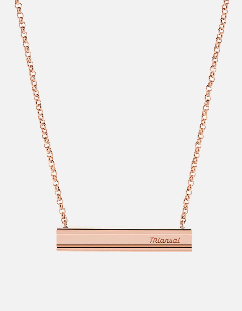 I-Beam Necklace, Rose Plated Polished | Women's Necklaces | Miansai