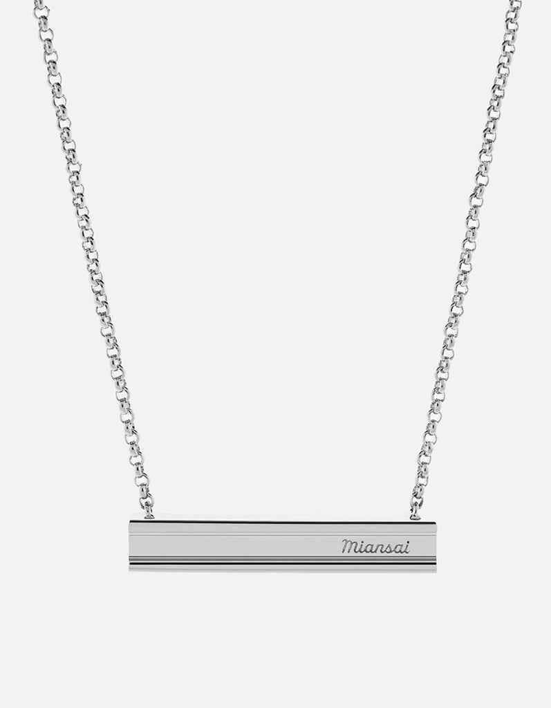 Miansai - I-Beam Necklace, Sterling Silver