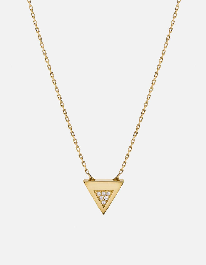 Miansai - Faction Necklace, Gold/Sapphire