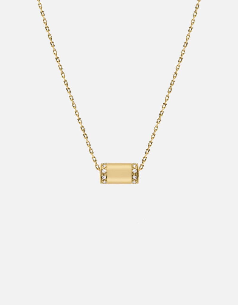 Miansai - Pillar Necklace, 14k Gold Pavé