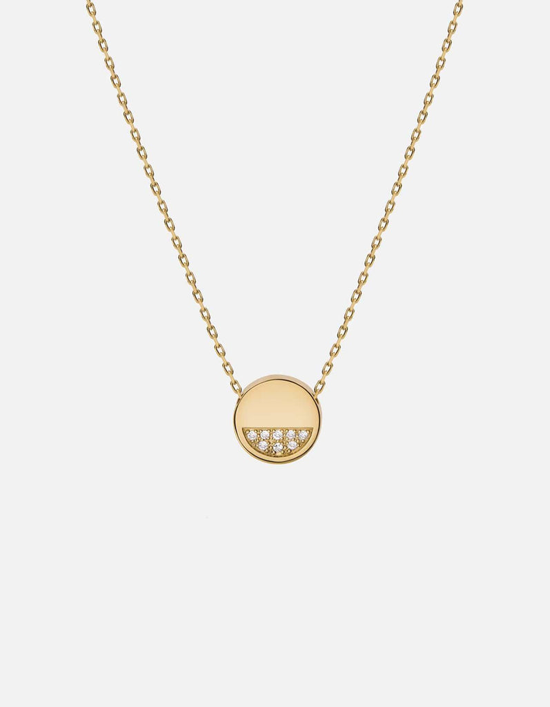 Miansai - Circuit Necklace, 14k Gold Pavé