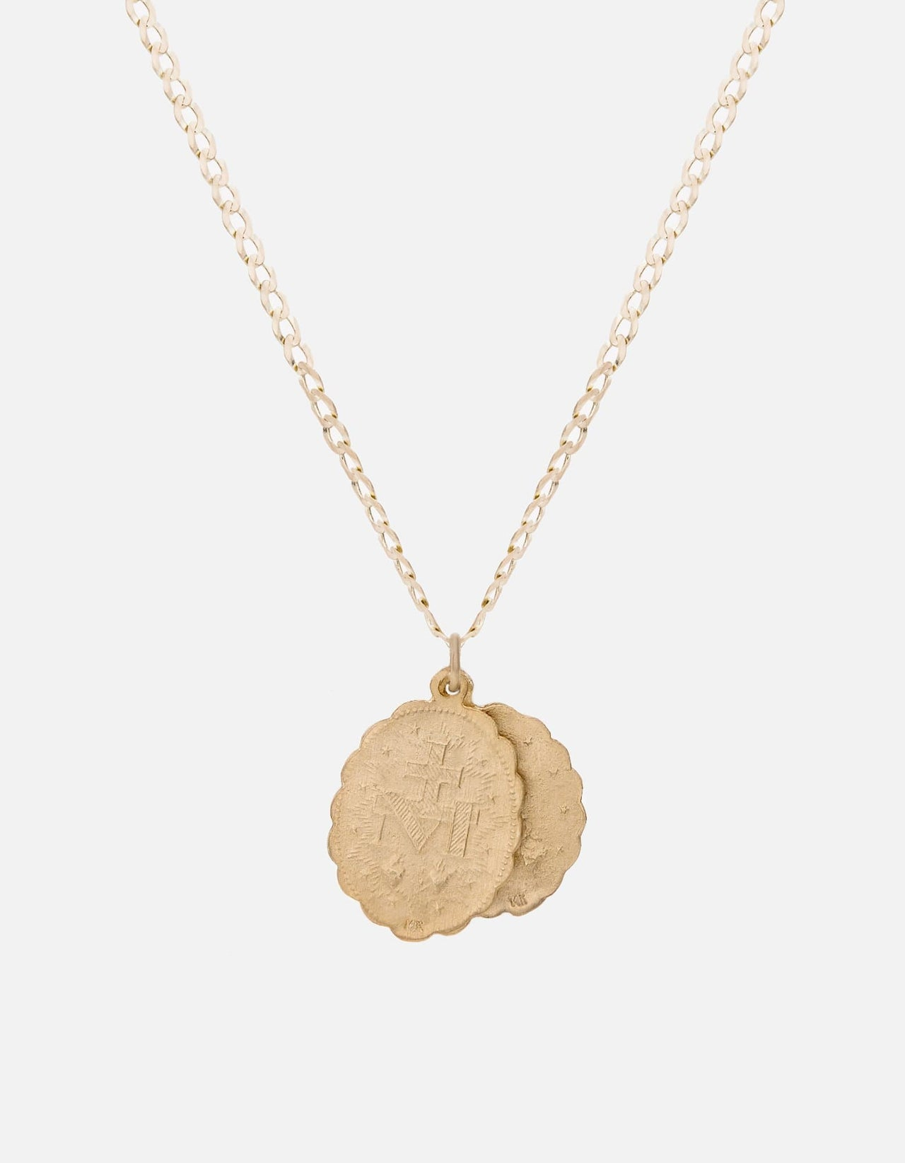 Saints necklace 14k yellow gold matte mens necklaces miansai aloadofball Image collections