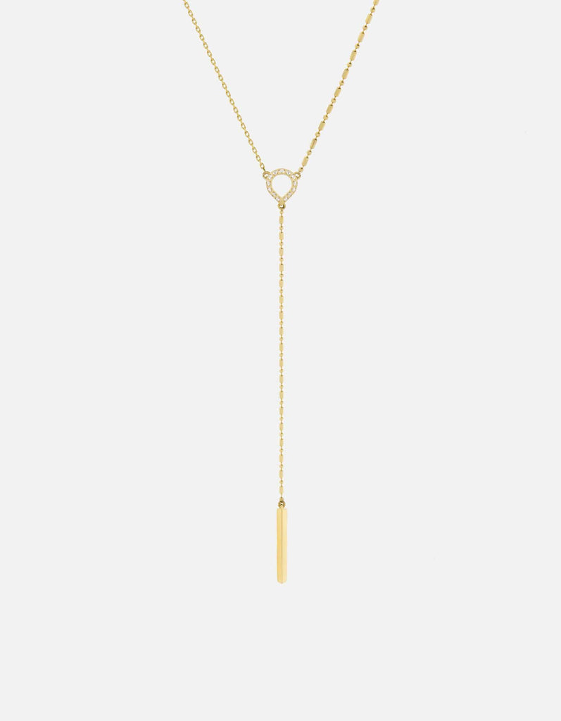 Teardrop Necklace, 14k Gold Pavé | Women's Necklaces | Miansai