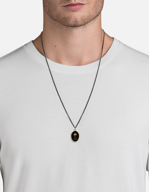 Palm Tree Necklace, Gold/Black | Men's Necklaces | Miansai