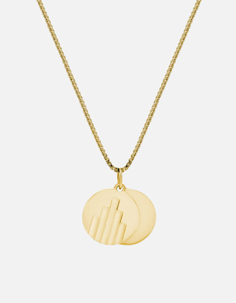 Miansai - Deco Pendant Necklace, Gold Vermeil