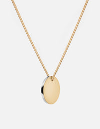 Miansai - Fusion Pendant Necklace, Gold/Silver, 14k Gold Chain