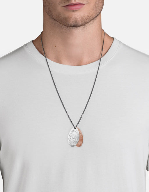 Miansai - Silver Penny Chain Necklace, Mermaid