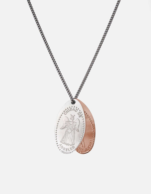 Silver Penny Chain Necklace, Angel