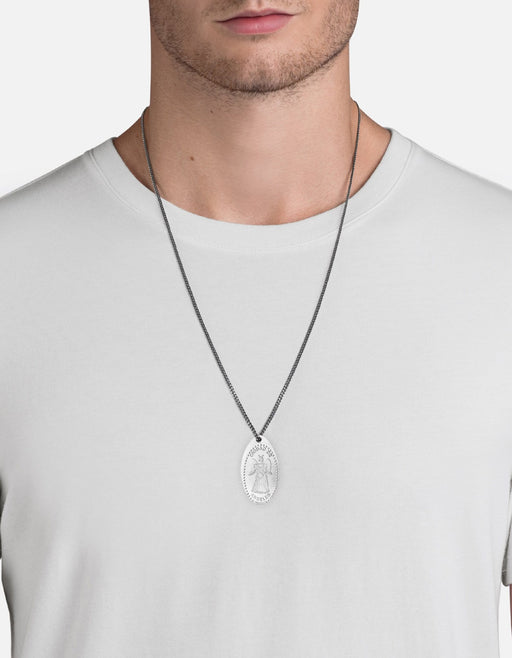 Silver Penny Chain Necklace, Angel | Men's Necklaces | Miansai