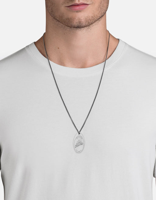 Miansai - Silver Penny Chain Necklace, In Carbs We Trust
