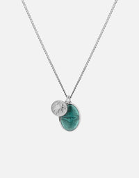 Miansai - IAMGALLA Mini Dove Pendant Necklace, Silver/Teal