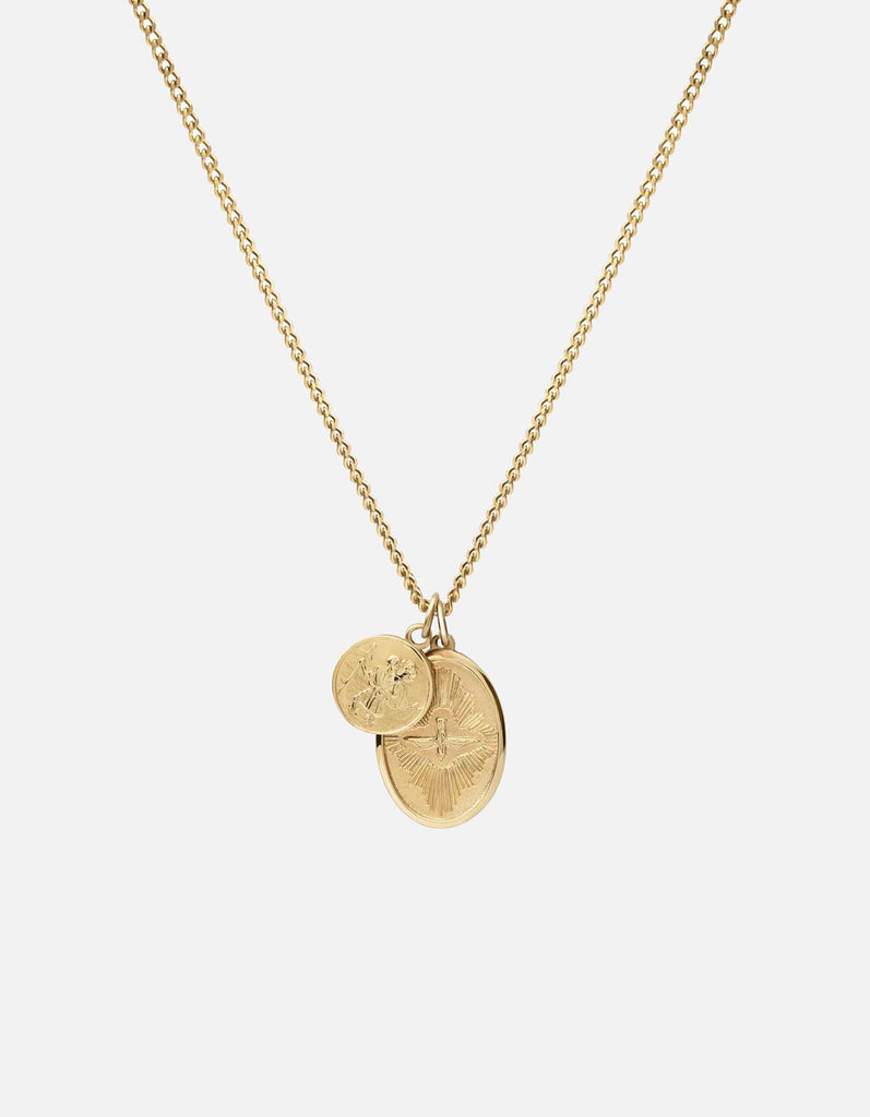 Mini Dove Pendant Necklace, Gold Vermeil, Polished - Miansai