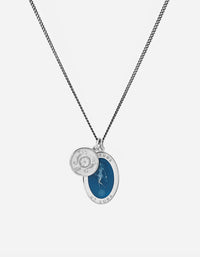 Miansai - Fortuna Necklace, Sterling Silver/Blue