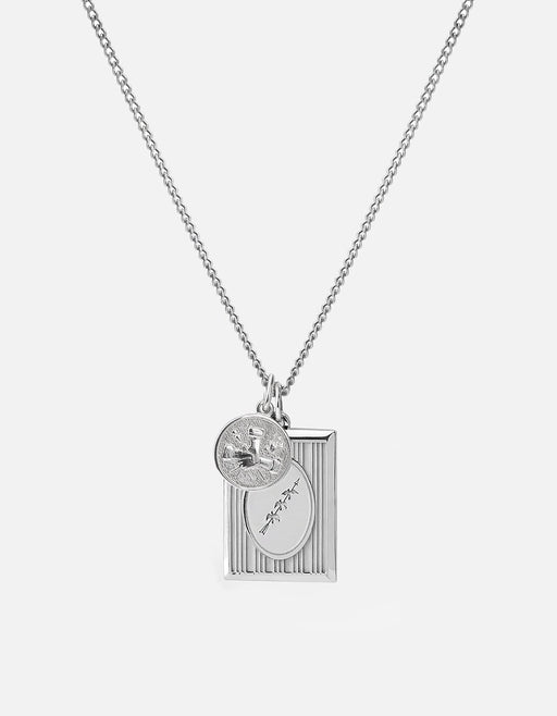 Bird Frame Pendant Necklace, Sterling Silver, Polished | Men's Necklaces | Miansai