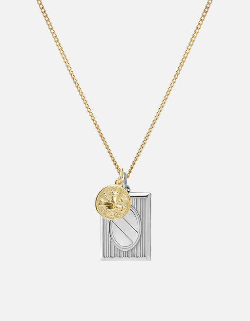 Frame Pendant Necklace, Sterling Silver/Gold Vermeil, Polished | Men's Necklaces | Miansai