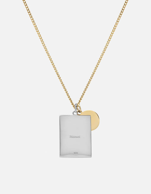 Miansai - Frame Necklace, Sterling Silver/Gold Vermeil